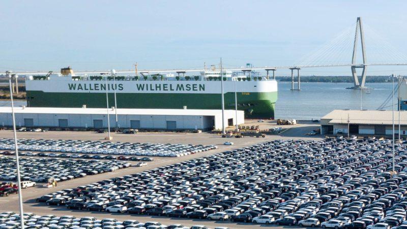 BMW vehicles at Port of Charleston