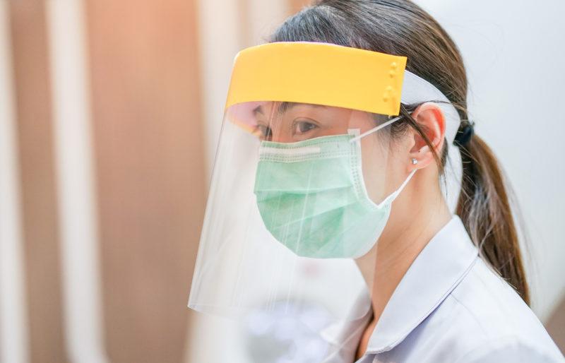 Face shields using Milliken product