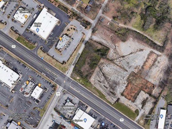 Aerial shot of North Pleasantburg